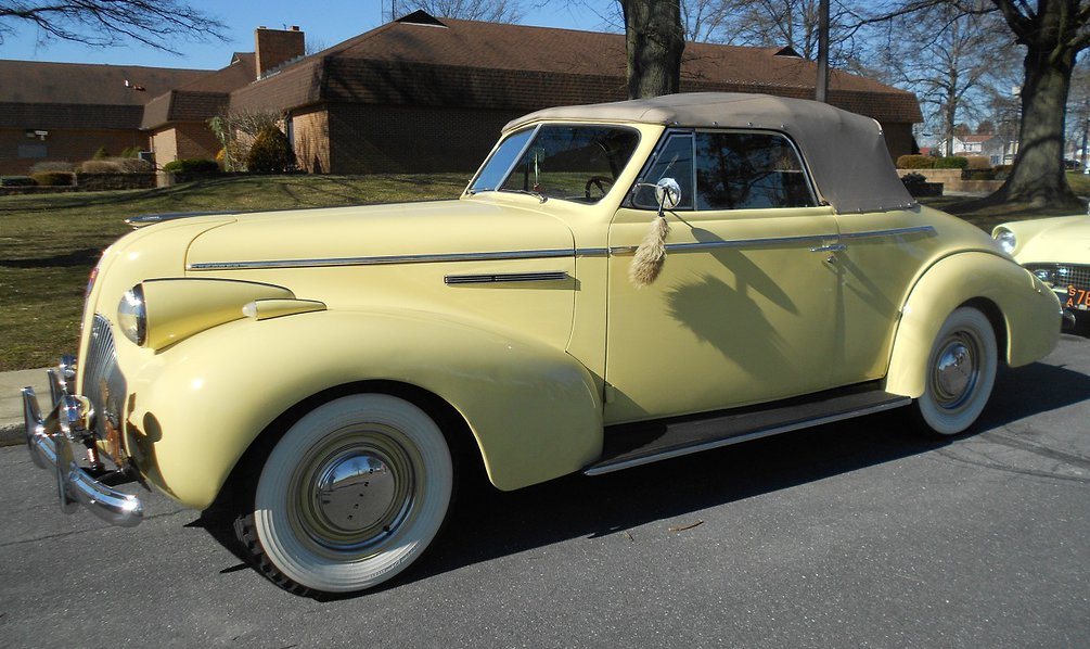 Yellow colored 1939 Buick Convertible