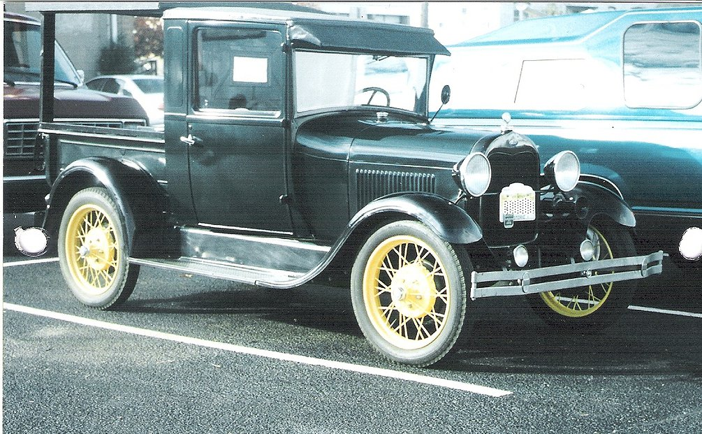 Black 1928 Ford Model A Pickup
