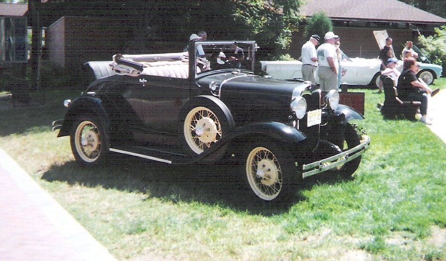 Black 1930 Ford Model A Cabriolet