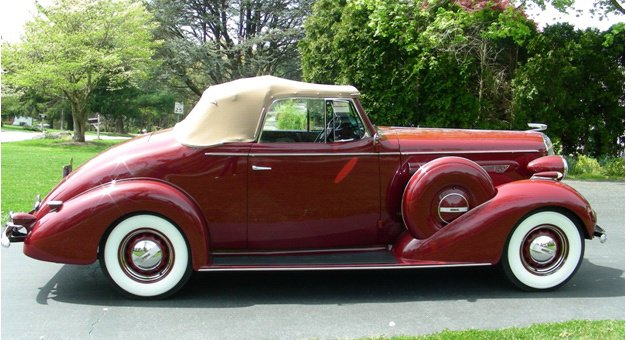 Red colored 1936 Buick
