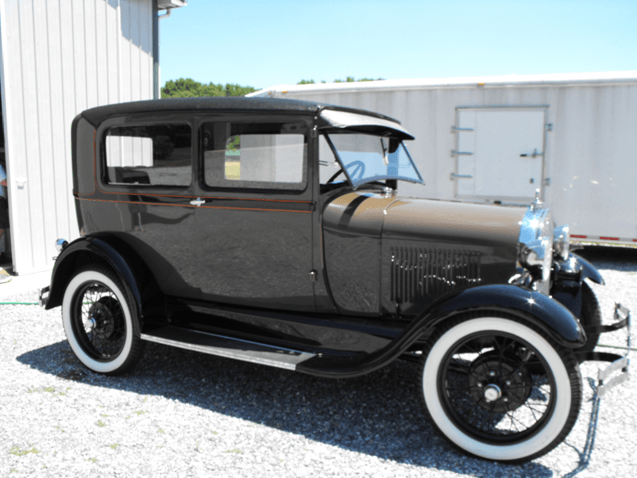 Black 1929 Ford Model A Tudor Sedan