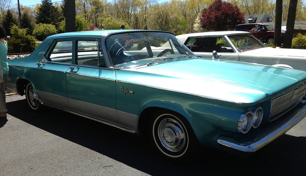 Teal colored 1963 Chrysler