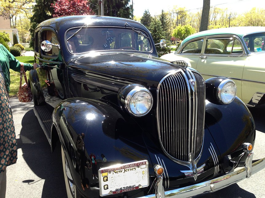 Black 1938 Plymouth