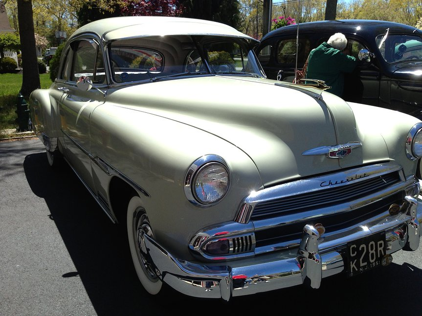 Off white colored 1951 Chevrolet