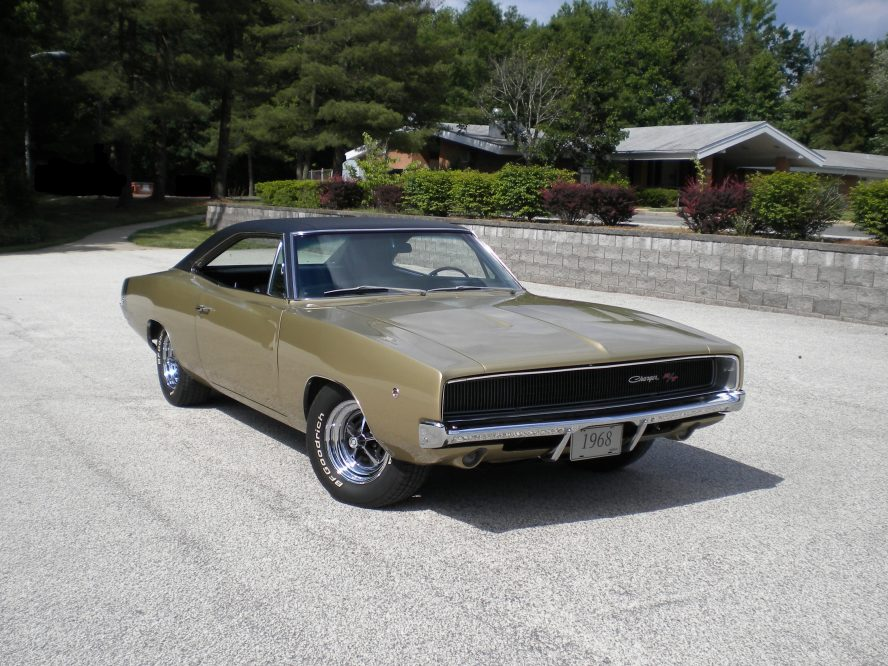 1968 gold charger RT antique vehicle