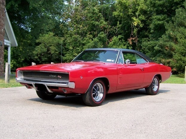 1968 Red Charger antique vehicle
