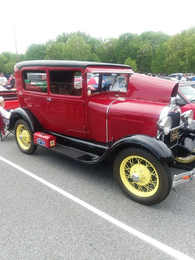Red vintage auto