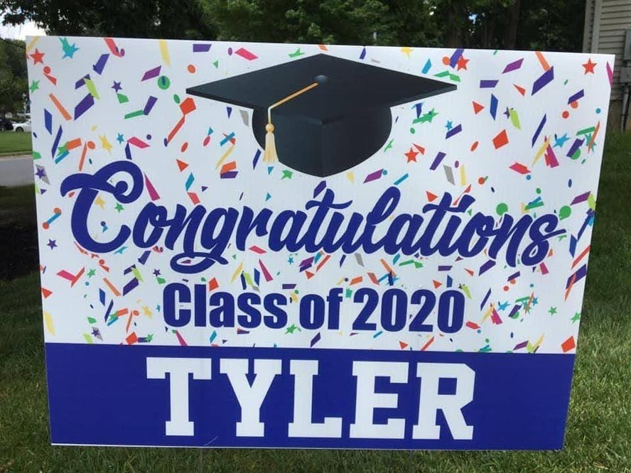 Graduation Drive-By for Tyler Chin