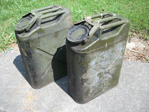 Two gas canisters